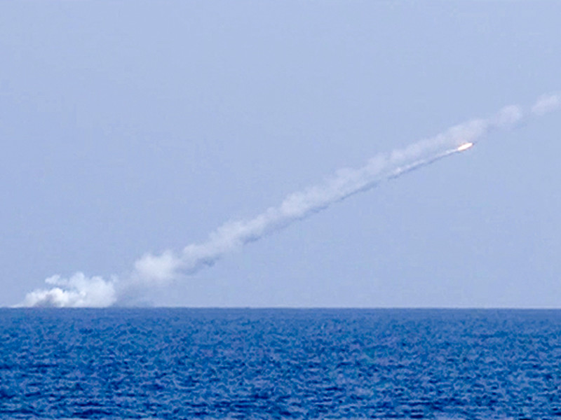 удар ракетой по сирии с подводной лодки